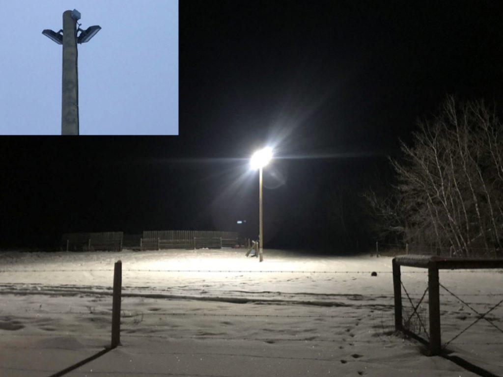 Street Pole Light Install